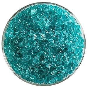 浅海蓝宝石蓝透明易碎玻璃粗磨 - 新款 226.8 克尺寸 - 90COE - Bullseye Glass 制造