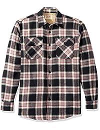 牧马人 authentics 男式长袖羊绒衬里法兰绒衬衫