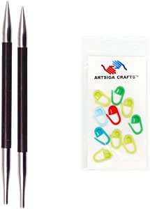knitter's Pride karbonz 可互换 cm 9cm ) 短款 TIP 织针 with 10artsiga CRAFTS stitch 马克笔