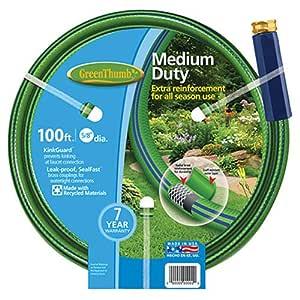 teknor-apex 公司绿色拇指尼龙 reinforced 花园软管4PLY 绿色 5/8-Inch by 100-Feet