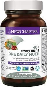 New Chapter 40+男性复合维生素片 男性每人每日一粒 含发酵益生菌+塞润榈+维生素B+维生素D3 +Non-GMO成分- 72片