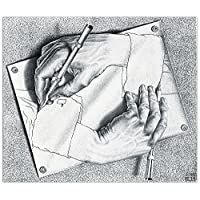 ArtPlaza 绘画手部装饰板,木质,多色,47 x 1.8 x 40 cm