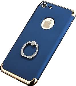 Iphone 7 plus 手机壳,新款 iPhone 7 plus 防摔外壳带环支撑苹果 7 plus 5.5 蓝色