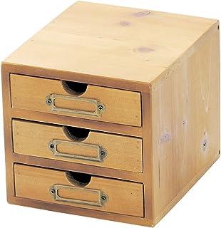 KAIJAPAN 收纳盒·盒子 棕色 3层抽屉