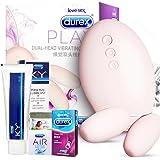 杜蕾斯durex新品双头线控跳蛋+KY100g润滑液送情趣礼包 紧型装air超薄避孕套计生性用品情趣用品