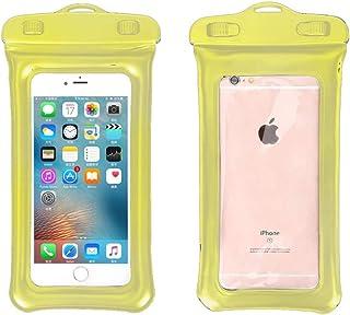 防水手机袋防水袋带浮动圈兼容袋干燥袋兼容夏季防水袋游泳沙滩干燥袋手机壳手机套 黄色