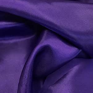 mds 10 码装新娘纯色缎面面料婚纱时尚工艺装饰丝绸缎 111.76 cm - 超过 30 种颜色 Cadbury 紫色 5 YARD 5_satin fabric_ Cadbury Purple