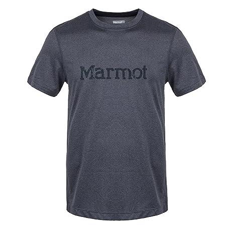 Marmot 土拨鼠 男士 户外运动跑步防晒速干排汗短袖T恤
