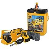 CAT 卡特彼勒 建筑拼装工程车 仿真工程车模型拼装玩具车拖拉机-中号推土机 CATC80902(尺寸:13.65*19.05*22.54cm)