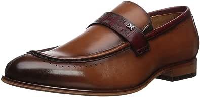 Stacy Adams 男士 Sussex 莫卡辛一脚蹬乐福鞋 Cognac 多种颜色 10.5 M US