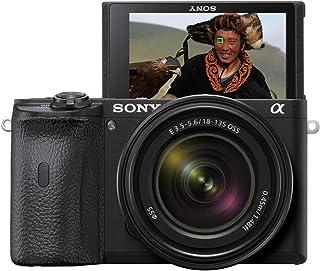 Sony 索尼 Alpha 6600 E接环 系统相机( 2400万像素,4K视频,更高的电池性能)ILCE6600MB.CEC  Systemkamera mit SEL-18135 Objektiv 黑色