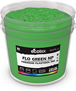 Ecotex 荧光绿 NP-塑胶油墨用于丝网印刷 - 不含邻苯二甲酸盐* - 所有尺寸 Fluorescent Green NP 夸脱 RJ-S4C6-X89H
