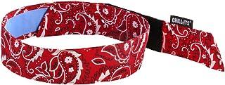 ergodyne chill-its 6705ct 蒸发冷却头巾–HOOK & Loop 封口,蓝色 Red Western 均码