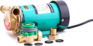 """ZHKUO 90W 水压增压泵 3/4 英寸(约 1.9 厘米)出口自动淋浴增压泵,带水流开关,适用于家庭/淋浴 115V 3/4"""" 15GR-15"""