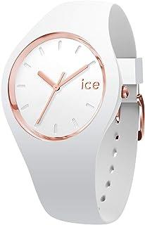 冰表 - ICE Glam 白色玫瑰-金色 - 女士手表带硅胶表带