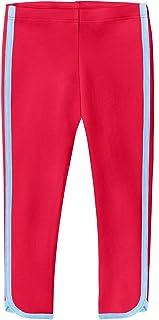 City Threads 女童 * 纯棉七分裤夏季打底裤带剪裁适合健身瑜伽运动学校或玩耍