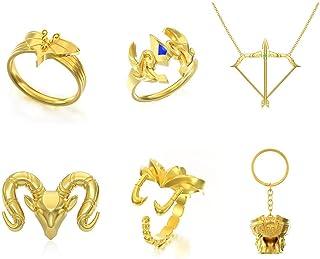 圣斗士星矢 十二生肖戒指 18K黄金首饰 占星术 星座 星座 戒指 星座 星座 戒指
