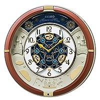 セイコークロック 置き時計・掛け時計 茶メタリック 39×39×9.6cm アナログ からくり トリプルセレクション メロディ RE601B