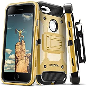 iPhone 7 Plus/iPhone 6 Plus 手机壳,Evocel【Trio Pro 系列】纹理主体,多层,iPhone 7 Plus/iPhone 6 Plus/iPhone 6s Plus(5.5 英寸)支架。EVO-IPH7PLUS-HH15 金色*章
