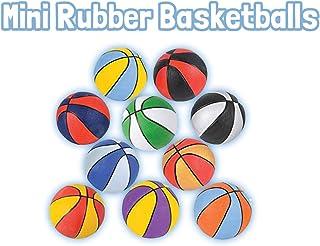 HOWBOUTDIS(2 件装)多色迷你 7 英寸(约 17.8 厘米)橡胶篮球,室内或室外比赛球,非常适合派对初学者
