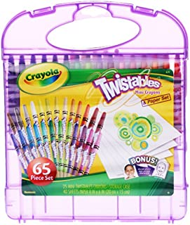 Crayola 繪兒樂 進口學生繪畫文具套裝 25色可擰轉蠟筆禮盒04-2705