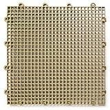 DuraGrid ST24BEIG 舒适瓷砖互锁模块化多用途*地板垫(24 件装),米色,件