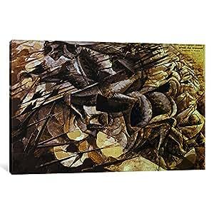 iCanvasART 1 件 The Charge of The Lancers 1915 油画印刷品,Umberto Boccioni,1.91 x 20.32 x 30.48 厘米