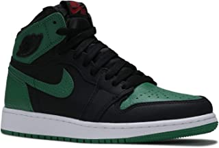 Jordan Kids' Air 1 Ret Hi Prem Hc Gg Black, Pine Green, White, Gym Red 4 Big Kid