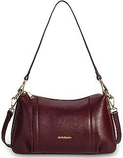 小牛皮钱包和手提包女式经典设计师软皮斜挎包中号单肩包