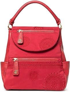 Desigual 女式配件 PU 中号背包,红色,U