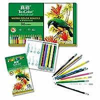 彩色铅笔 真彩4576六角水溶性彩色铅笔 12色彩色铅笔 24色彩色铅笔 36色彩色铅笔色铁盒装水溶彩铅 水溶彩铅笔 秘密花园专用彩铅 彩笔 彩铅 绘画专用彩色铅笔 (36色)