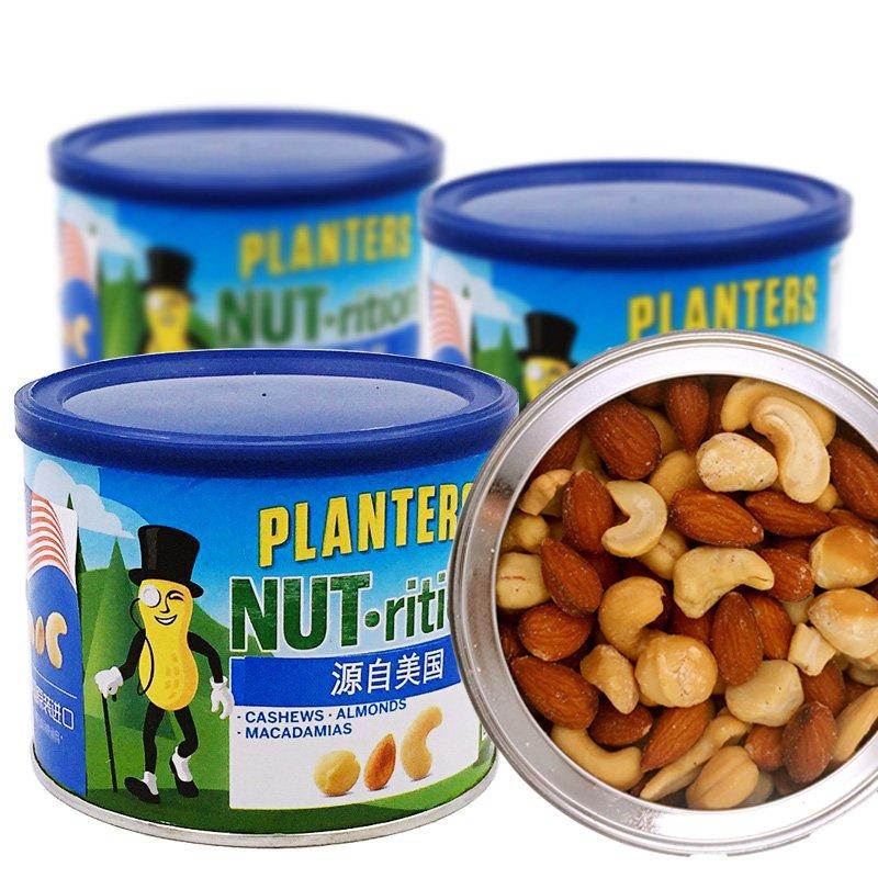 临期白菜!美国进口 PLANTERS 绅士  233*4罐 混合坚果