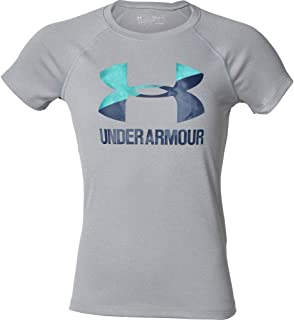 Under Armour 安德玛 女童 大徽标纯色T恤短袖