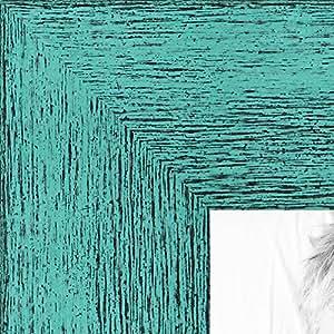 """画框灰色乡村风格木纹。 3.81 cm 宽 1.5 英寸水绿色 5 x 7"""" WOM0066-83235-YAQU-5x7"""