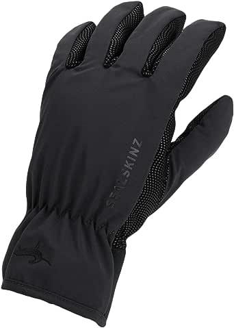 SEALSKINZ 中性防水全天候轻质手套,黑色,XXL