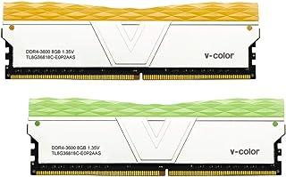 v-Color Prism II RGB 16GB (2 x 8GB) DDR4 3600MHz (PC4-28800) CL18 1.35V 台式机内存 - 橙色/* (TL8G36818C-E0P2SOK)