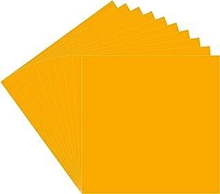 30.48 厘米 x 30.48 厘米永久粘合背衬乙烯基板,10 个装(光泽饰面)黄色 Oracal 651 适用于室内/室外标记、字母、装饰、标志、贴花、十字架窗户图形、剪影浮雕……