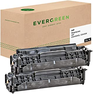 Evergreen CE410XD - CE410X 再生硒鼓 1 件装