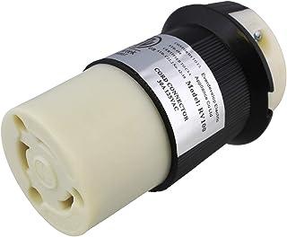 Dumble L5-30R 连接器 – 30 安培扭锁入口,锁定电源线连接器,锁定电源插头,30A 125V