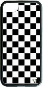 Wildflower 限量版 iPhone 6、7 或 8 手机壳 Black Checkered