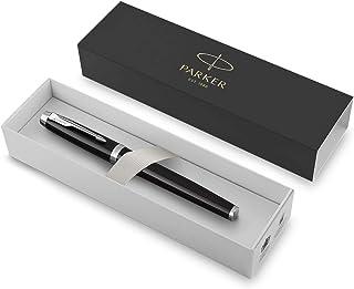PARKER 派克 IM Fountain 钢笔,黑漆铬边,中笔尖加蓝墨,礼品盒(1931651)