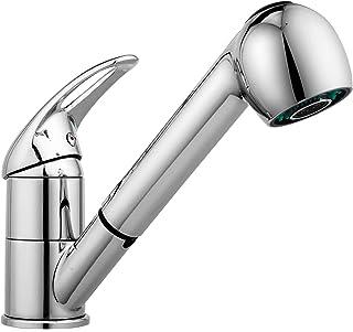 厨房水龙头,现代商用不锈钢单手柄抽拉式厨房水龙头,厨房水槽水龙头