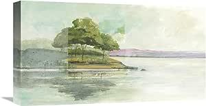 Global Gallery Avery Tillmon 'Lake Front I' 艺术微喷拉伸帆布艺术品,55.88 cm x 30.48 cm
