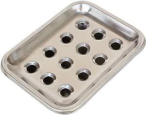 Kangkang@ 可爱高级不锈钢孔肥皂盒排水肥皂盒