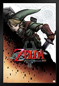 Pyramid America The Legend of Zelda Twilight 公主标志视频游戏海报 裱框海报 14x20 inches 363577