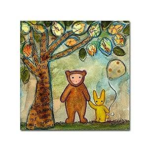 Trademark Fine Art Wyanne Help Friends 帆布画 14x14 ALI8210-C1414GG