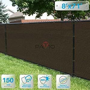 Patio 8 英尺围栏隐私屏幕 8' x 71' 棕色