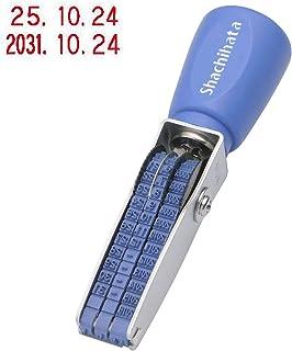 Shachihata 印章 旋转橡胶印章 西文日期 6 号 3 列 印章尺寸约 12×2 毫米 哥特体