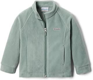 Columbia 女童 Benton Springs 夹克,柔软羊毛,经典款 Light Lichen Medium