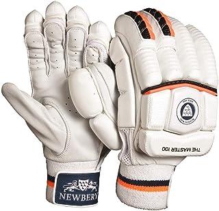 Newbery Cricket 中性款 Master 100 击球手套,白色/橙色,高级